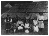 Bystrzec, dom rodziny Biloholowy, Irena Vincezowa, Jędrek Vincenz w wieku dziecięcym, członkowie rodziny