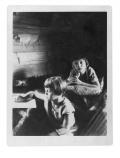 Basia i Jędrek Vincenzowie w domu w Bystrzecu