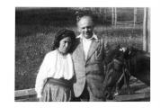 Bystrzec, Irena Vincenzowa w stroju huculskim i Stanisław Vincenz