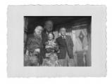 (nałożone dwa zdjęcia), Bystrzec, Marian Haleniak, Stanisław i Irena Vincenzowie