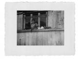 Bystrzec, Basia Vincenz na balkonie z kotem i kociątkami