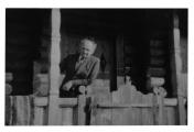 Bystrzec, Stanisław Vincenz na balkonie domu