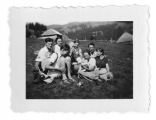 Bystrzec, Psariwka, grupa na wycieczce