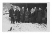 Kołomyja, J. Miketta, Stanisław Vincenz, NN, NN, huculski rzeźbiarz w drewnie, T. Szarewski