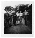 Quackenbrück (Niemcy), Tadeusz, Stanisław i Andrzej Vincenz, Wandzia, Irena Vincenz, narzeczony Wandzi