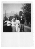 La Combe, La Chapelle. Alinka Guzik, Margit, Irena i Stanisław Aleksander Vincenz