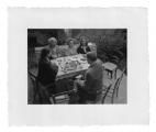 La Combe, La Chapelle. Stanisław Vincenz, pani Loepfe, Andrzej i Irena Vincenz