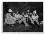 La Combe, La Chapelle. Stanisław i Irena Vincenzowie, Anna-Liza Engel, Kazimierz Vincenz, Dante Elsner, Andrzej i Halszka Vincenz