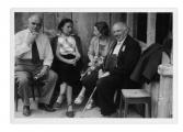 Adelboden, Hans Zbinden, Irena Vincenzowa, Helena Łuczyńska, Stanisław Vincenz