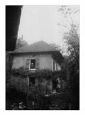 La Combe, Le Mas, w górnym oknie: Stanisław Vincenz, w dolnym oknie: Irena Vincenzowa