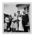 6 sierpnia 1959, Montreux, Irena i Stanisław Vincenzowie, Barbara Wanders-Vincenz, Gérard, Selma i Willy Wanders