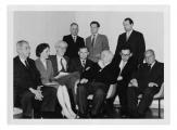 Essen, w pierwszym rzędzie: konsul Jan-Łodzia Brodzki, NN, Józef Czapski, Jasio Senkiw, Stanisław i Andrzej Vincenzowie, Heinrich May, w drugim rzędzie: NN