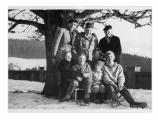 Szwajcaria, Heiligenschwendi, stoją: Peter Marbach, Stanisław Vincenz, pani Mueller, matka Ruth Marbach. Siedzą: Irena Vincenzowa, Christoph, Ruth, Michael i Regula Marbachowie